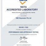 NATA Certificate - EMC Bayswater facility complies with ISO/IEC 17025